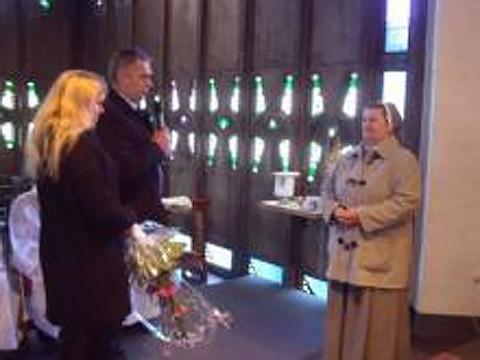 Powitanie Siostry Lucyny ze Zgromadzenia Sióstr Misjonarek Chrystusa Króla